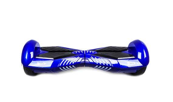 hoverboard  bleu noir face