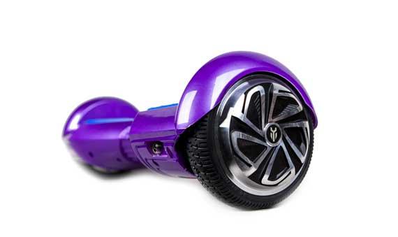 hoverboard  violet et bleu roue
