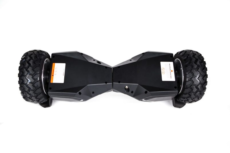 hoverboard tout terrain blanc arriere