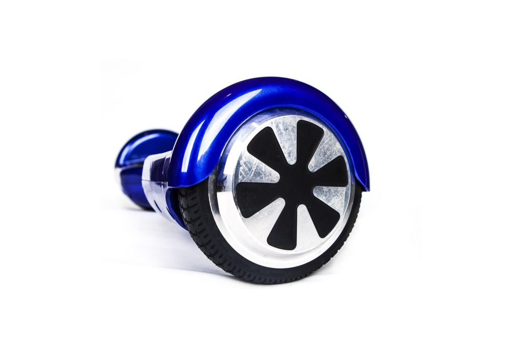 hoverboard bleu roue