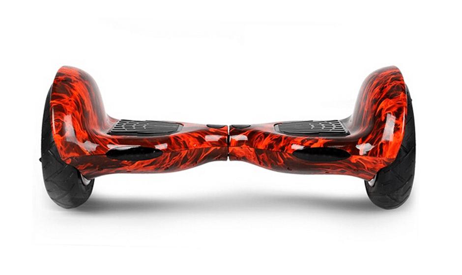 hoverboard 10 pouces tout terrain rouge flamme. Black Bedroom Furniture Sets. Home Design Ideas
